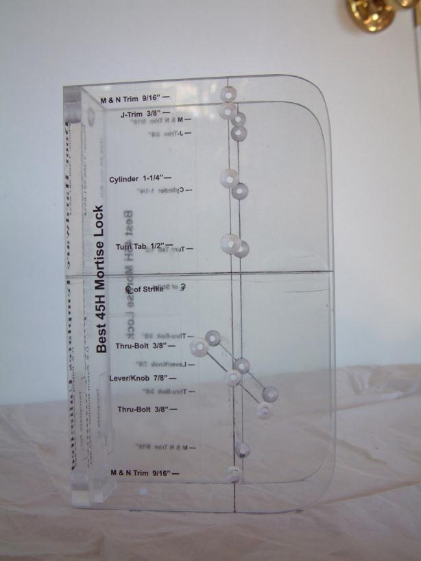 door knob installation template photo - 10