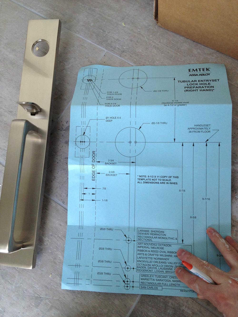 door knob installation template photo - 17