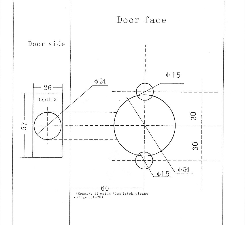 Template For Door Knob Hole