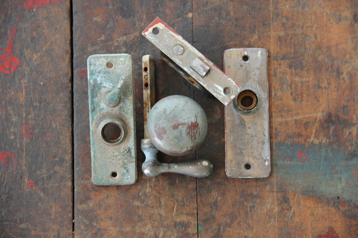 door knob latch assembly photo - 5