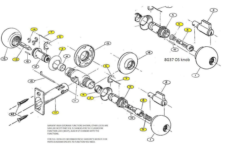 door knob parts photo - 14
