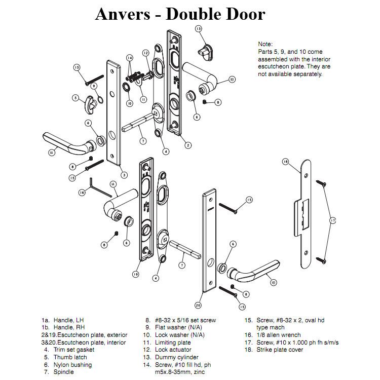 door knob replacement parts photo - 18