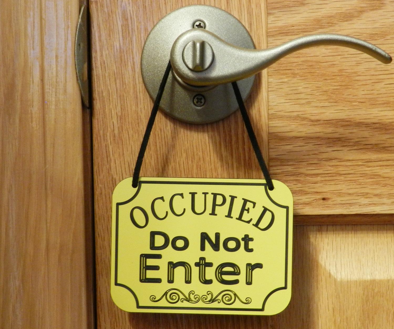 door knob sign photo - 3