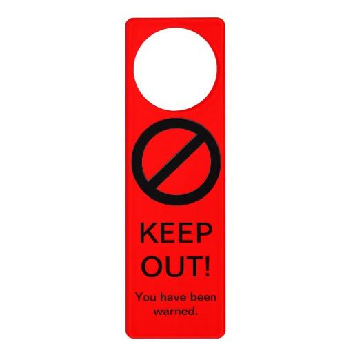 door knob sign photo - 7