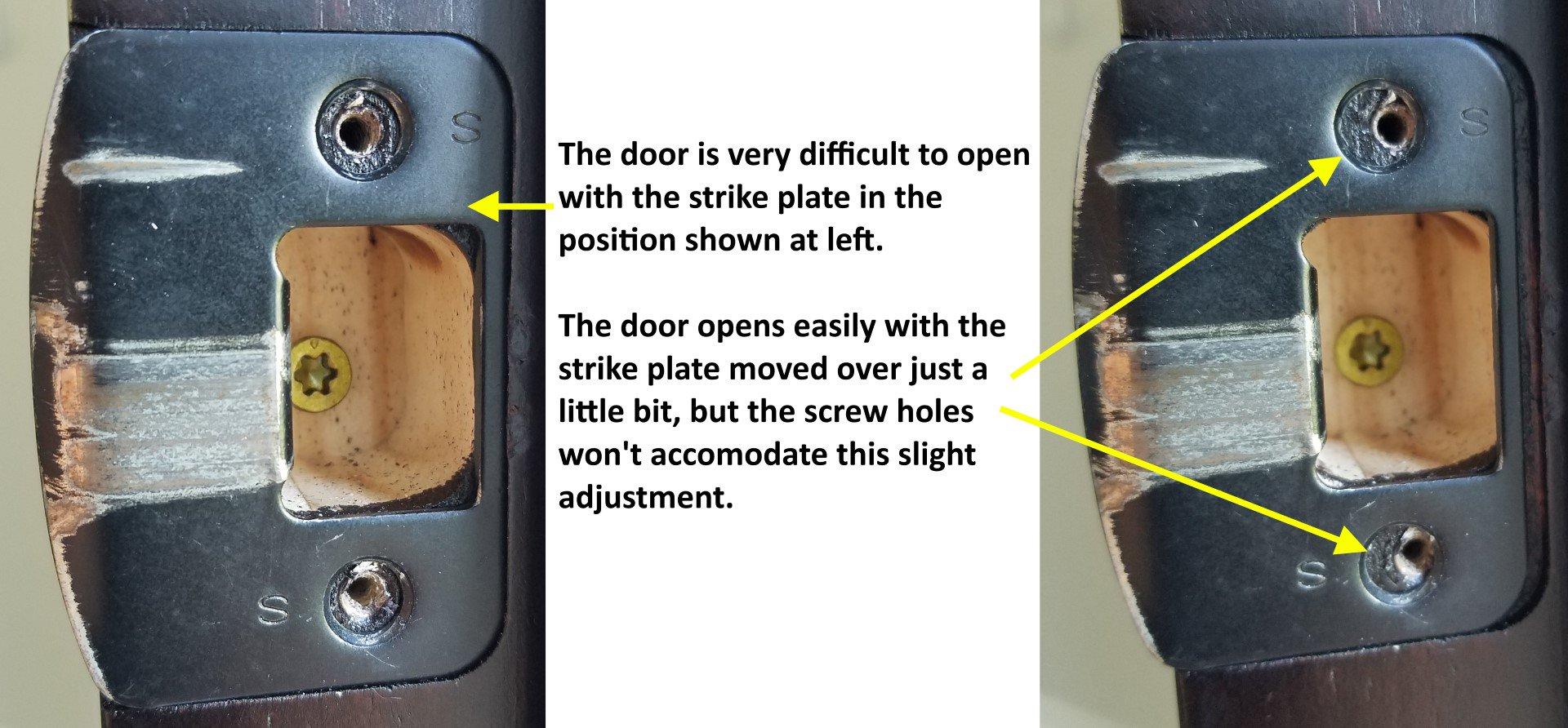 door knob strike plate photo - 20
