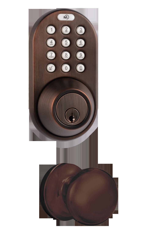 door knob with combination lock photo - 19
