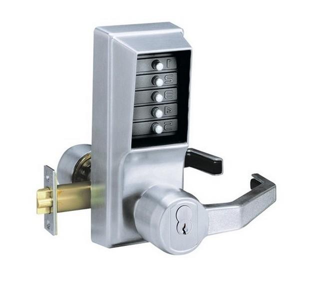 door knob with combination lock photo - 5