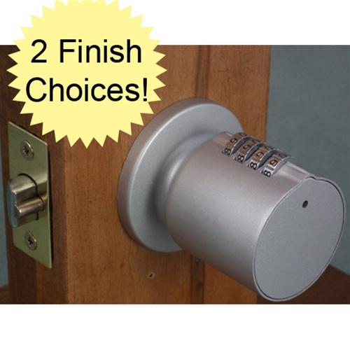 door knob with combination lock photo - 7