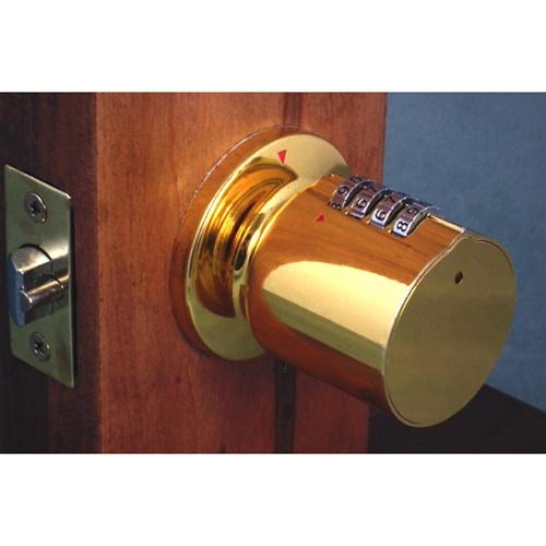 door knob with combination lock photo - 8