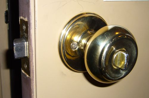 door knob with deadbolt built in photo - 3