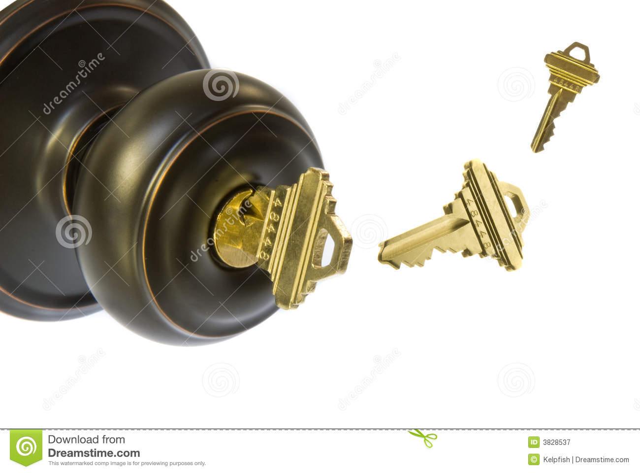 door knob with key photo - 7