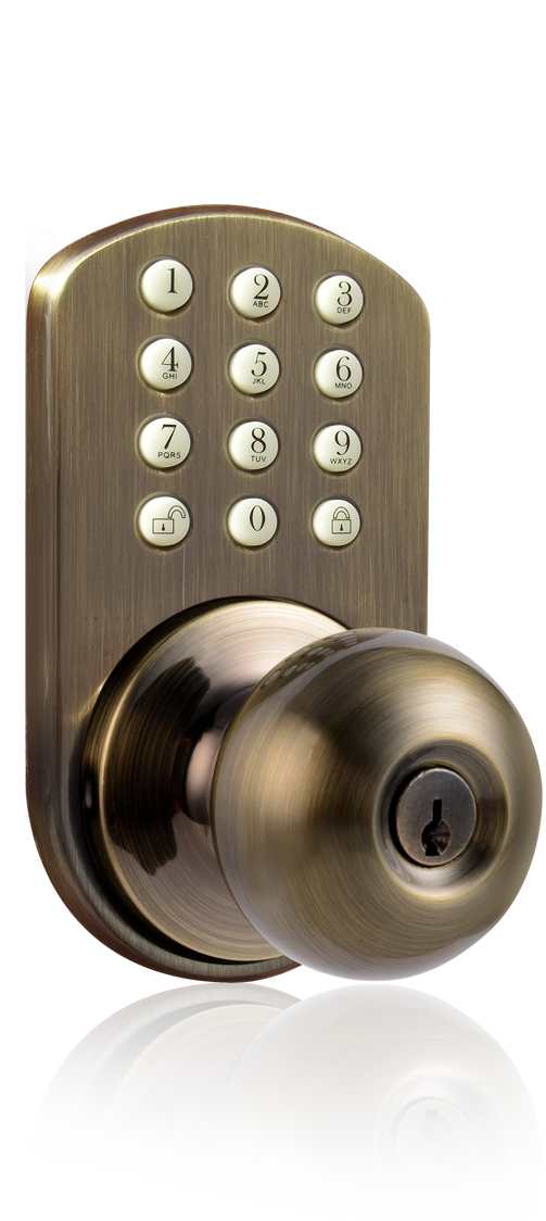 door knob with keypad photo - 10