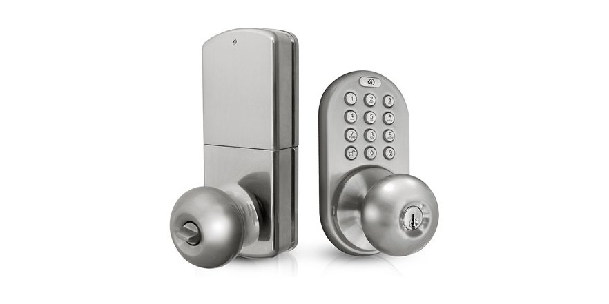 door knob with keypad photo - 18