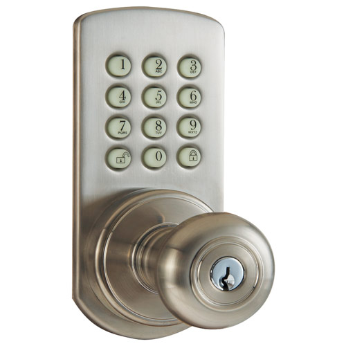 door knob with keypad photo - 2