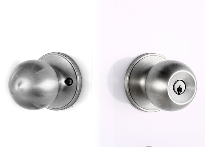 door knob with lock and key photo - 7