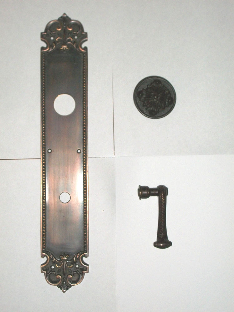 door knob with plate photo - 8