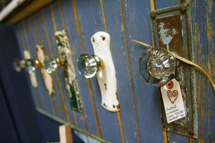 door knobs as coat hooks photo - 10