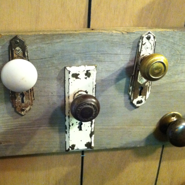 door knobs as coat hooks photo - 11