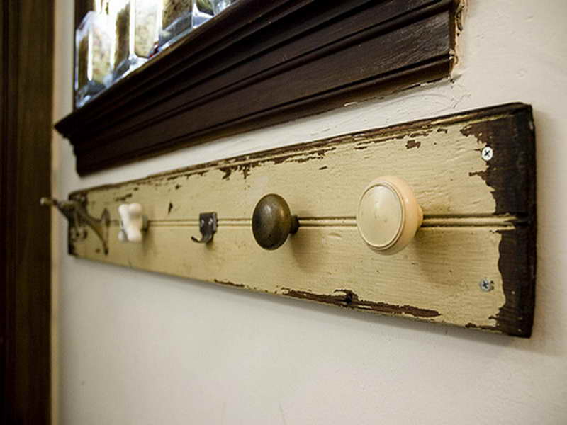 door knobs as coat hooks photo - 17