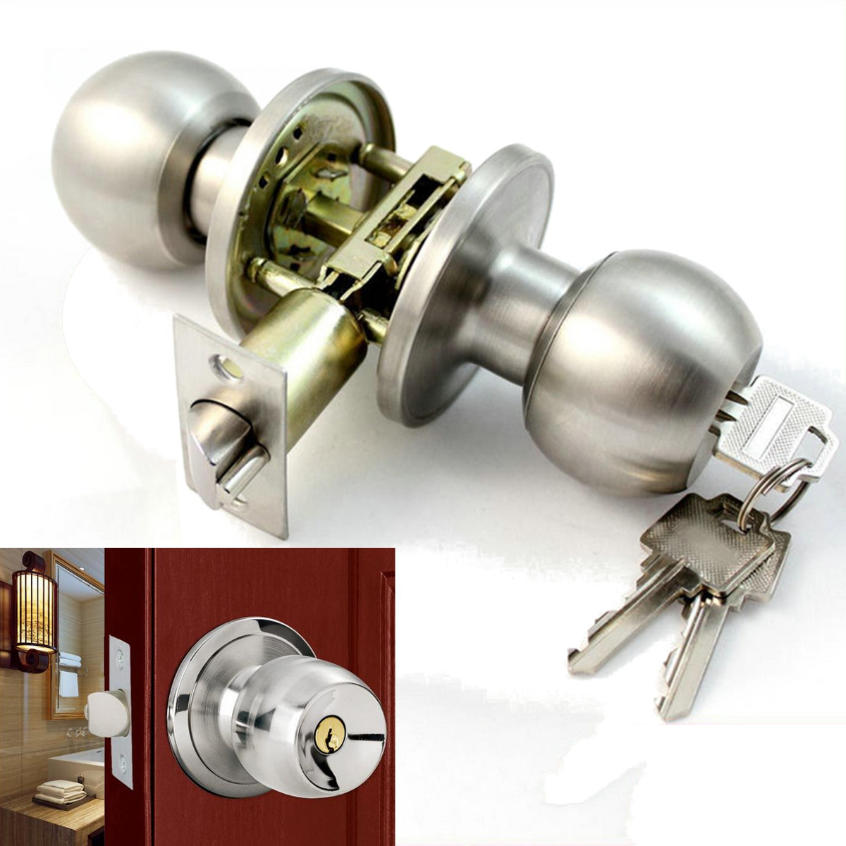 door knobs with key lock photo - 20