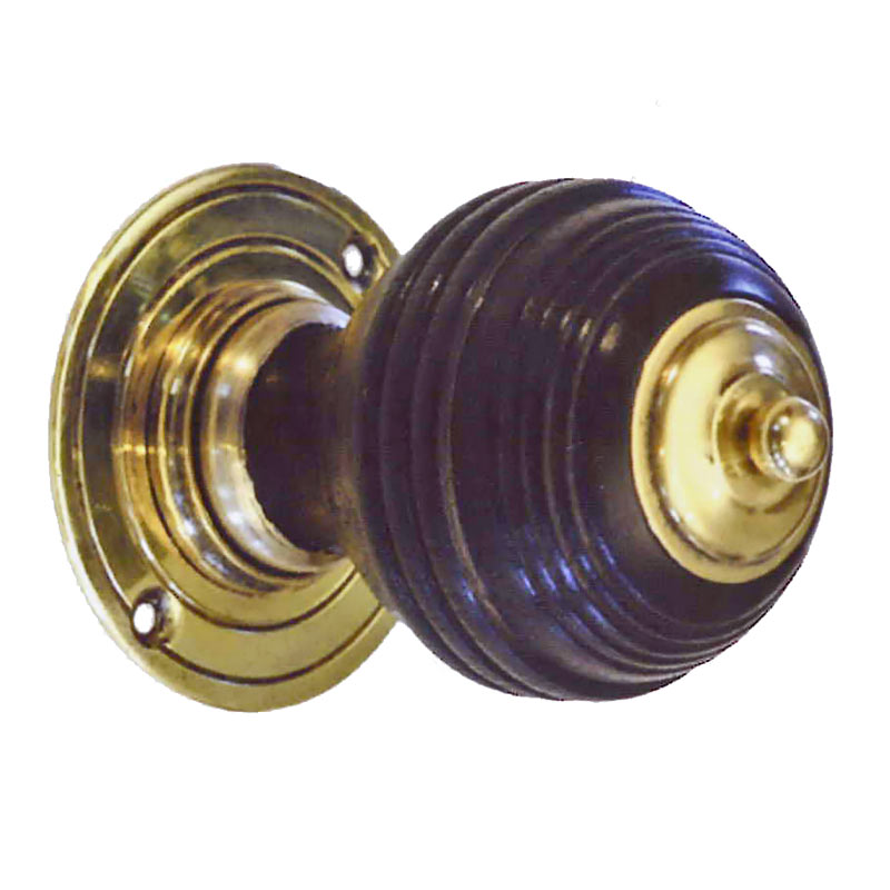 ebonised door knobs photo - 18