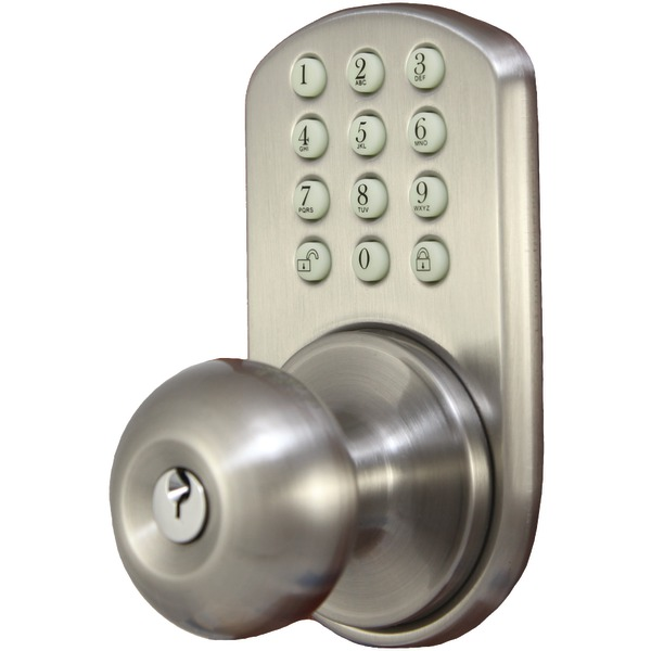 electronic door knob photo - 1
