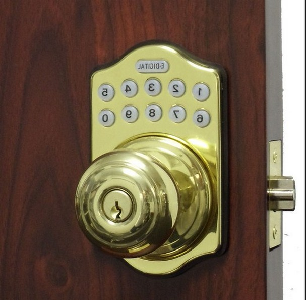 electronic door knob photo - 11