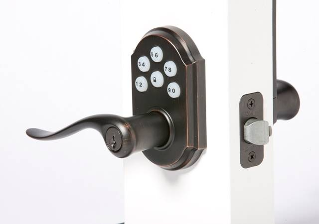 electronic door knob photo - 8