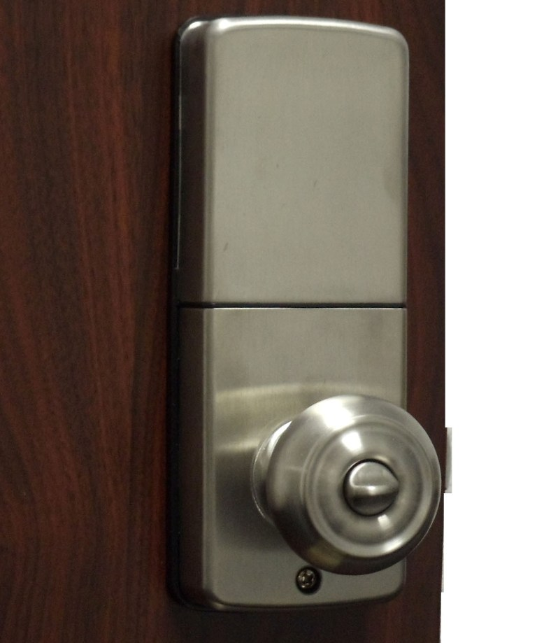 electronic door knob lock photo - 10