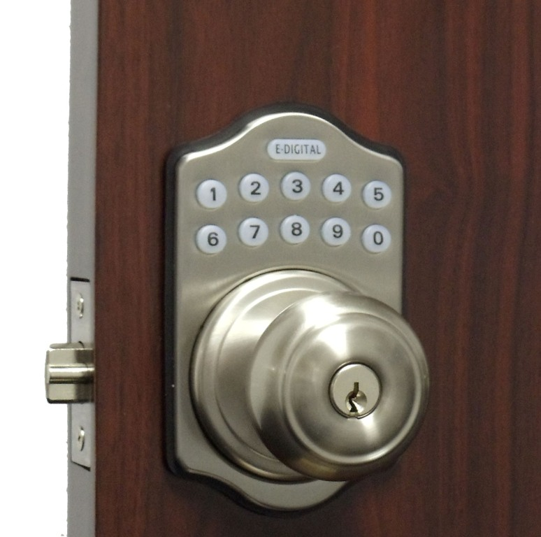 electronic door knob lock photo - 2