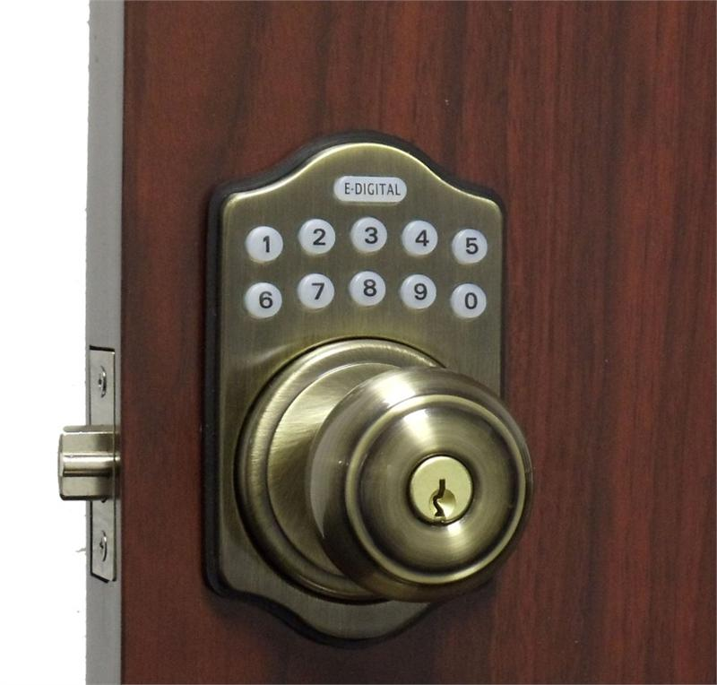 electronic door knob lock photo - 4