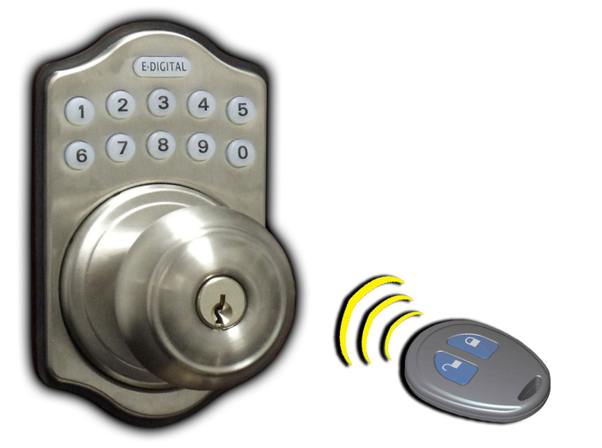electronic door knob lock photo - 5