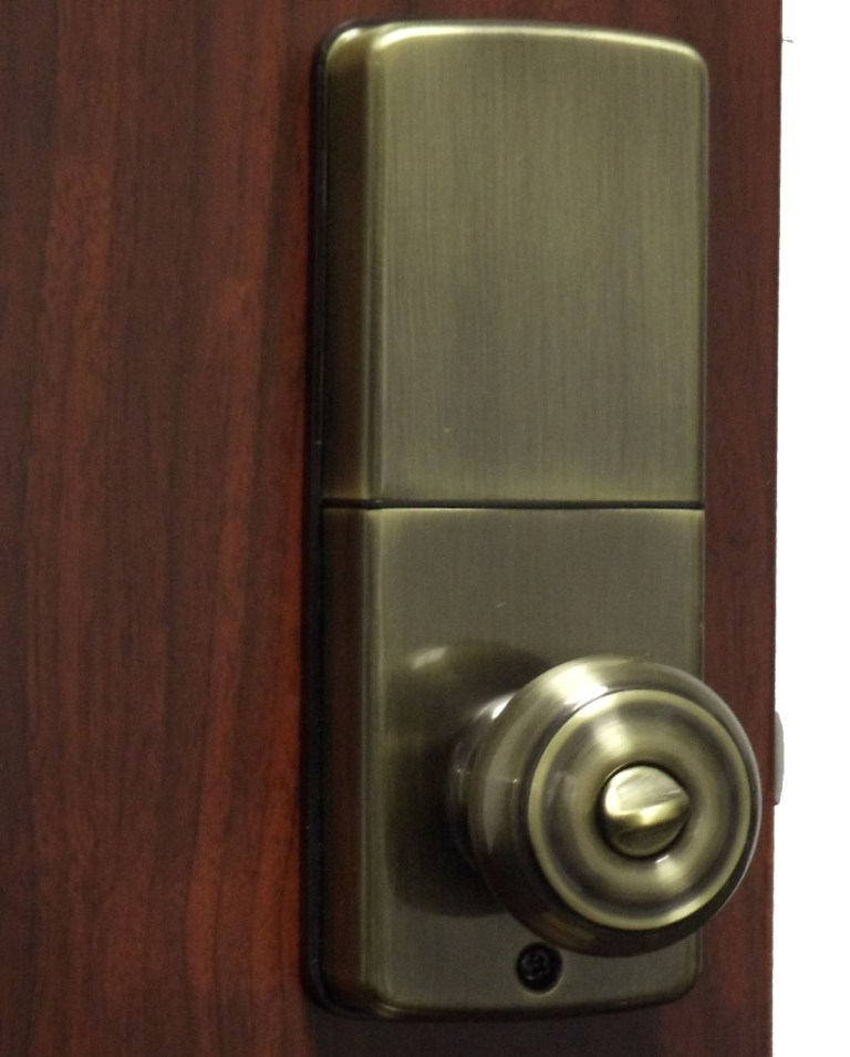 electronic door knob lock photo - 7