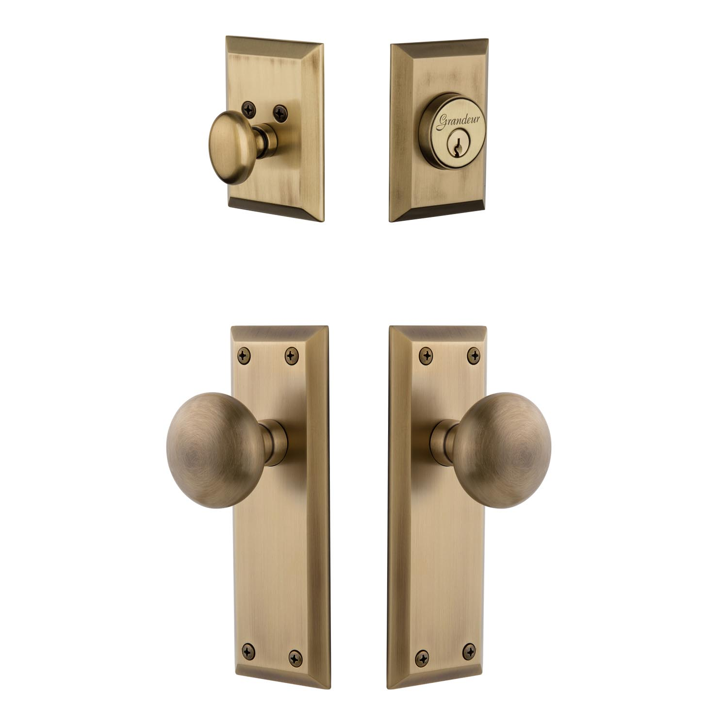 entry door knob with deadbolt photo - 12
