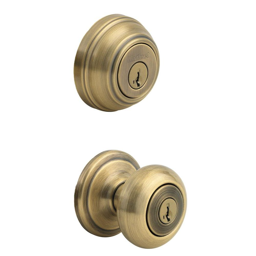 entry door knob with deadbolt photo - 15