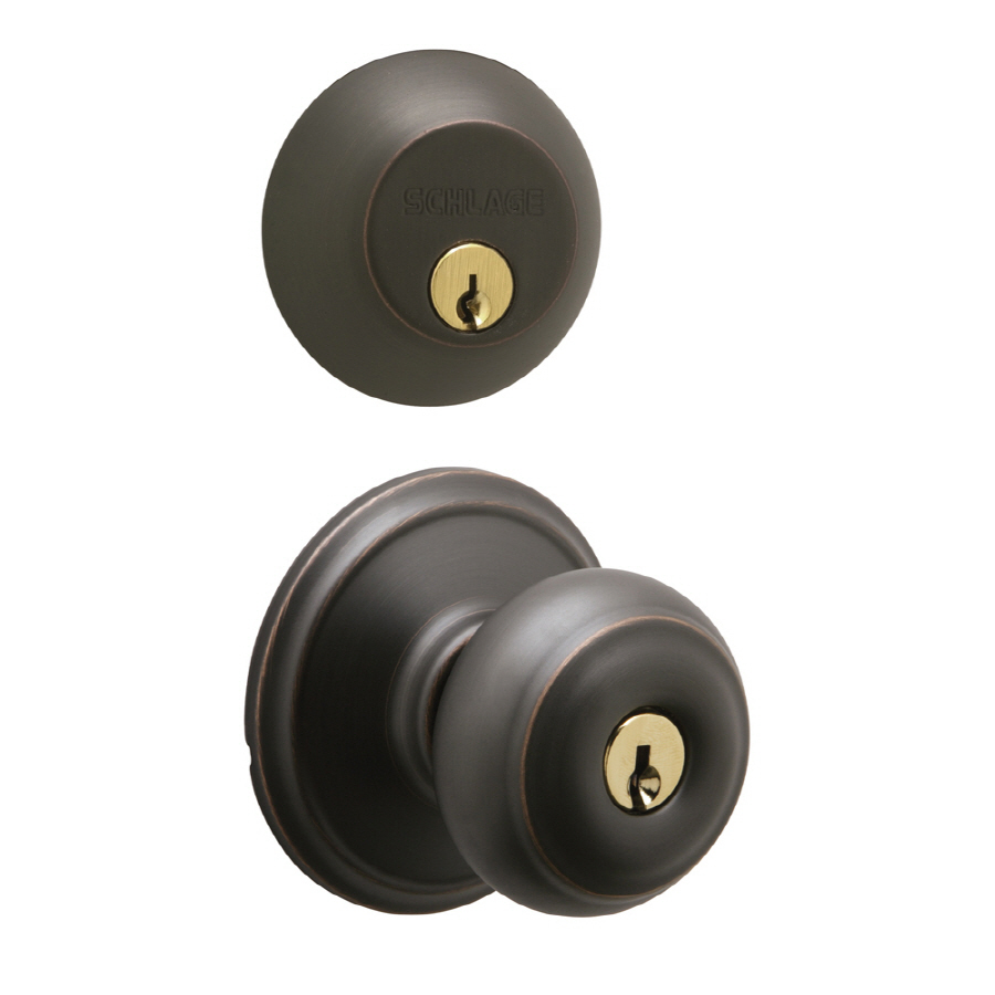 entry door knob with deadbolt photo - 6
