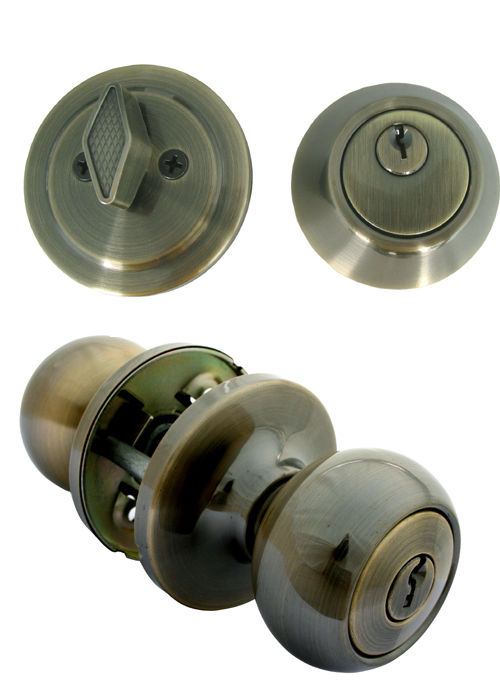 entry door knob with deadbolt photo - 7