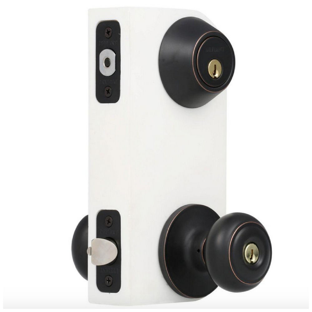 entry door knob with deadbolt photo - 8