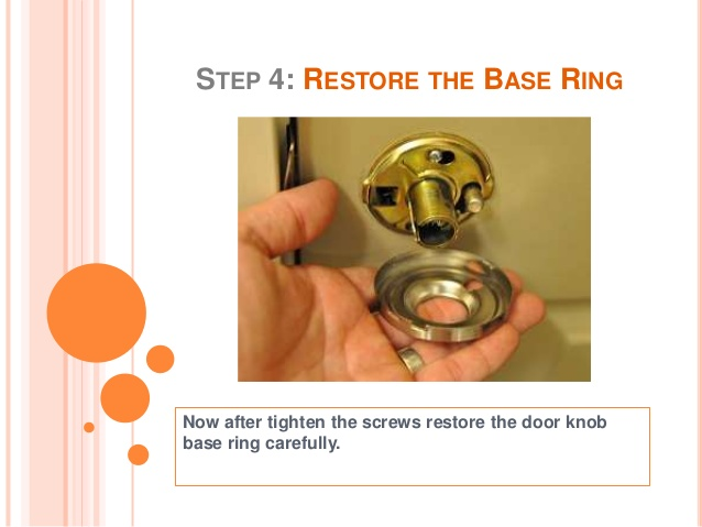 fixing loose door knob photo - 15