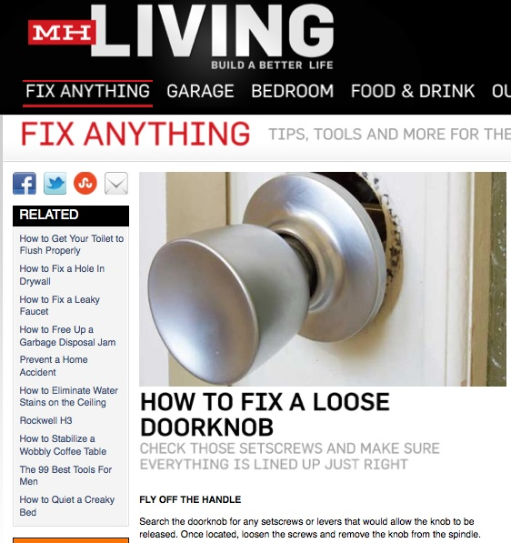 fixing loose door knob photo - 16