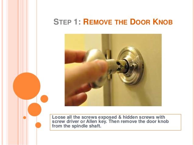 fixing loose door knob photo - 3