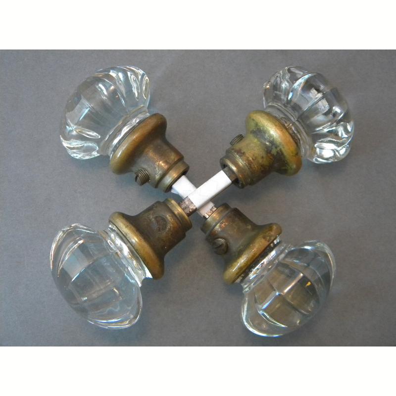 fluted glass door knobs photo - 10