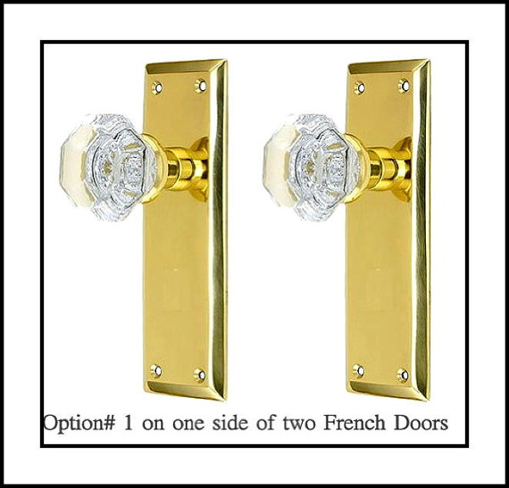 french door knob photo - 12