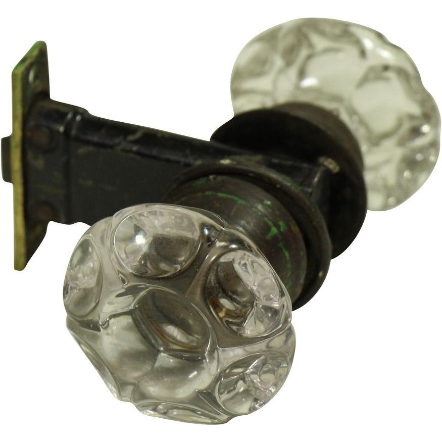 glass door knob set photo - 1
