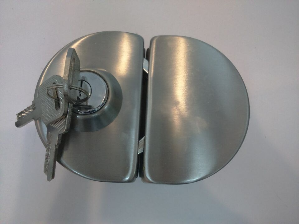 glass door knob with lock photo - 11