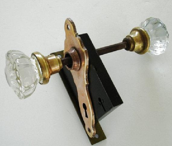 glass door knobs with lock photo - 10