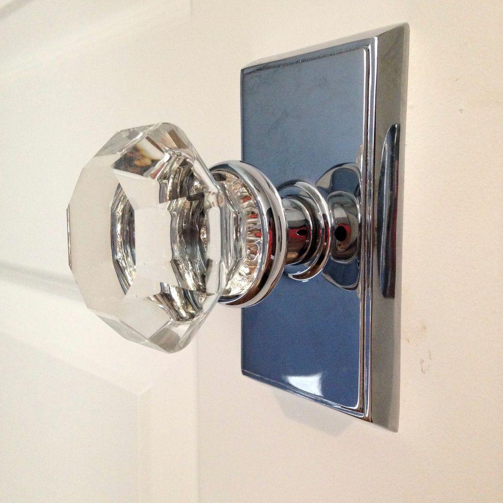 glass door knobs with lock photo - 11