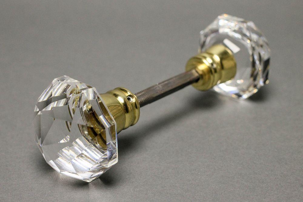 glass door knobs with lock photo - 13