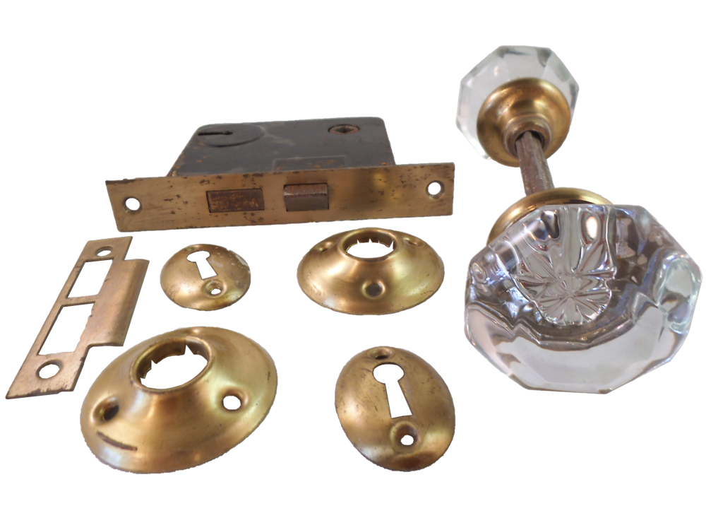 glass door knobs with lock photo - 8