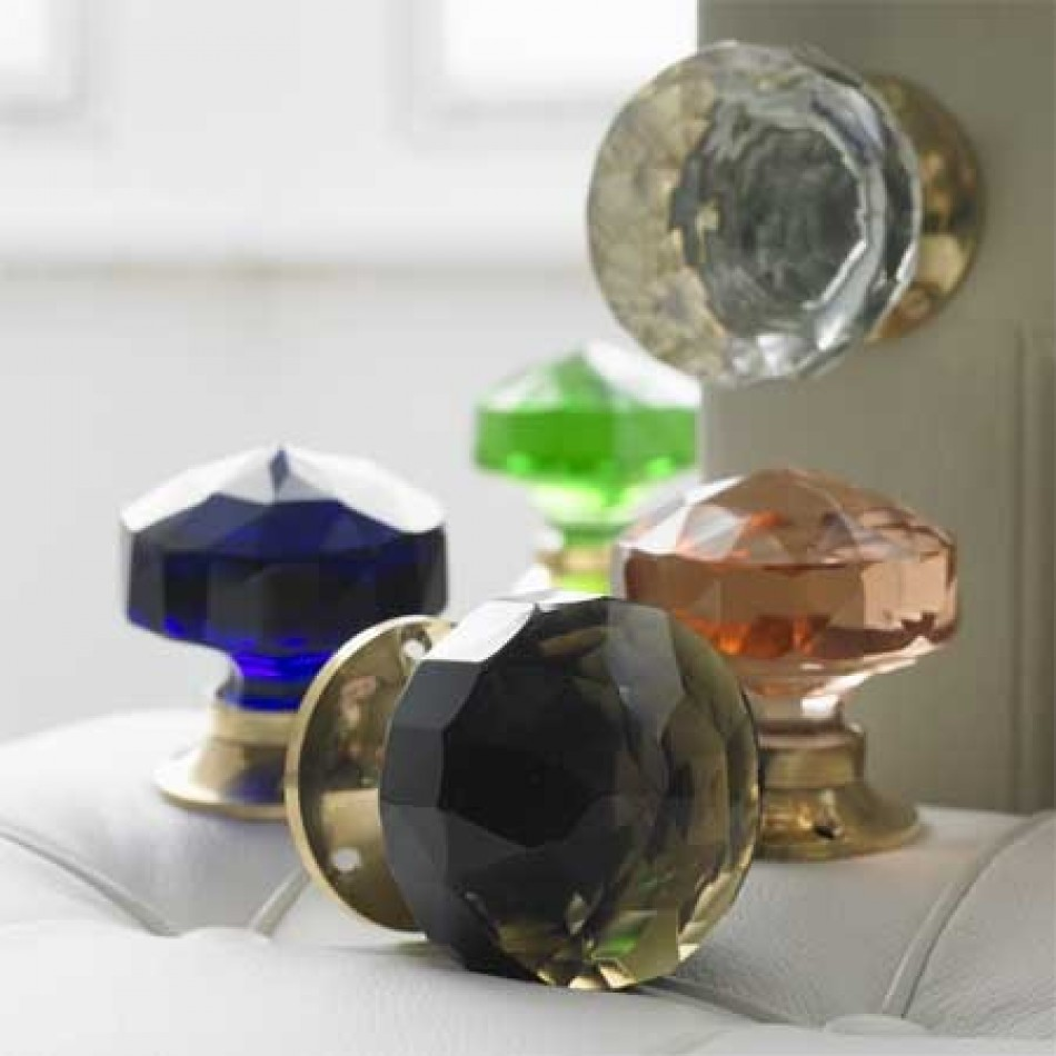 glass knob door handles photo - 6